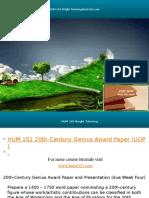 HUM 102 Bright Tutoring/hum102.com