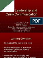 Crisis LeadershipCrisis Comm