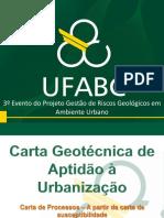 Carta Geotecnica de Aptidão a Urbanização