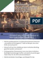 Int. Konfliktforschung II - Woche 08 - Die Rolle von Institutionen nach (und vor) Konflikten (Übung)
