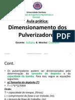 Dimensionamento Dos Pulverizadores