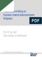 Von Wolffersdorff Praxisorientierte Ermittlung Von Parametern Moderner Bodenmechanischer Stoffgesetze