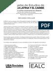 Jornadas IEALC Segunda Circular