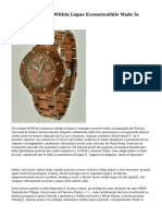 Eterno, L'orologio Within Legno Ecosostenibile Made In Italy