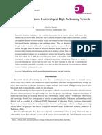 Successful Educational Leadership