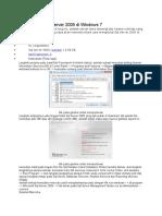 Cara Instal SQL Server 2005 Di Windows 7