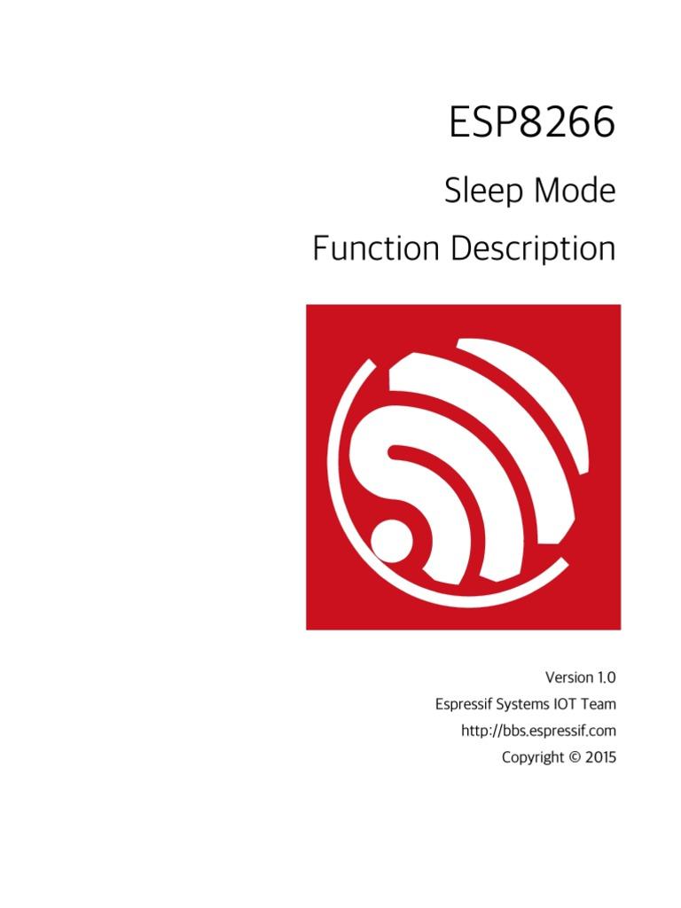 9B-ESP8266 Sleep Function Description en v1 0 | Trademark