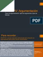 Unidad 4 III. Argumentación