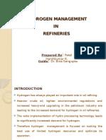 HYDROGEN MANAGEMENT IN REFINERIES