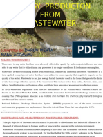 ENERGY PRODUCTON FROM WASTEWATER