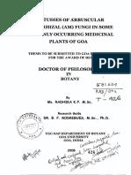 Research methodology of mycorrhiza