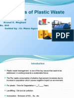 Pyrolysis of Plastic Waste