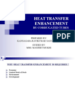 HEAT TRANSFER ENHANCEMENT BY CORRUGATED TUBES