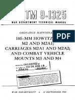 TM9-1325 105mm Howitzer