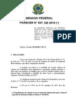 Relatório e Texto Final Da Comissão No Senado