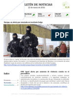 Boletín de noticias KLR 22MAR2016