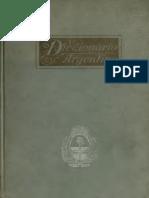 Diccionario Argentino Tobías Garzón 1910