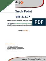 ExamsGrade 156-215.77 Certification Exam