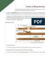 Flauta Crafting Dimensões