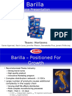 Barilla Spa Bullwhip effect