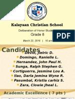 GRADE 8 Honors Under K-12