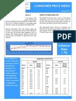 Consumer Price Index - Jan 16