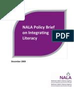 NALA Policy Brief on Integrating Literacy