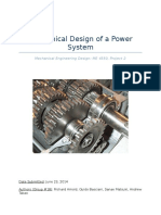 mechanical design of a power system