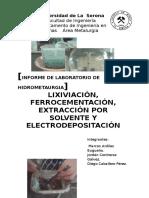 Informe Laboratorio Hidrometalurgia