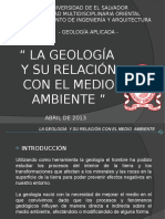 La Geología y Su Relación Con El Medio Ambiente