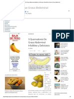 5 Quemadores de Grasa Abdominal Infalibles y Deliciosos _ Dieta Para Quemar Grasa Abdominal