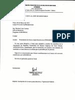 Carta de Presentacio de Nueva JD