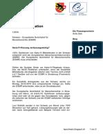 EGMR Beschwerde gegen Bundesgerichtsurteil vom 22.12.2015 – Medieninformation