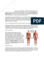 Overview of Anatomical Positions