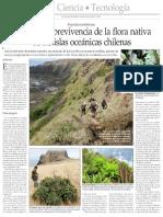 Peligra La Sobrevivencia de La Flora Nativa - El Mercurio de Stgo 09-06-2014