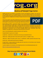 Unravel the Mystery of Patanjali Yoga Sutras