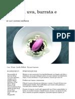 Ricetta Gelato Di Uva, Burrata e Biscotto - La Cucina Italiana_ Ricette, News, Chef, Storie in Cucina