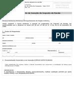 Formulário Isenção IRPF