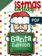 Christmas Activities Santa Edition