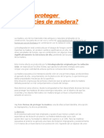Cómo Proteger Superficies de Madera