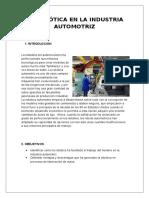 La Robótica en La Industria Automotriz