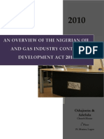 An Overview of the Nigerian Content Development Act 2010