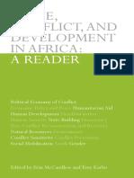 Paz, Conflito e Des. Na Africa