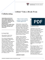 HBR Need to Solve a Problem - Take a Break From Collaborating