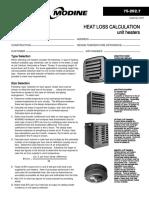 Modine heating Calculation