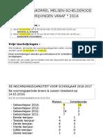 Inschrijvingsperiode 2016-2017 Info Ad Valvas Na Voorrangsperiodes
