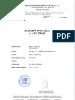 Zkušební protokol ze zátěžového testu na kšíry pro papoušky