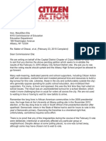 Letter to Commissioner Elia Regarding the Albany High School Vote