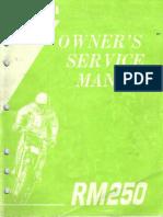 15576514-Suzuki Rm250 Service Manual Repair 1995 Rm 250