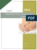 Resumen Pérez Sánchez Ginecologia